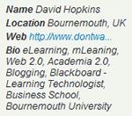 Twitter Profile: hopkinsdavid