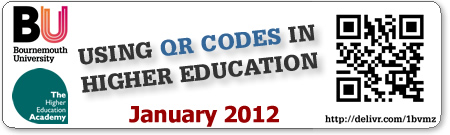 QR Codes in Higer Education, January 31st, 2012