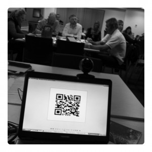 Workshop Evaluation Survey, delivered via QR Code :-)