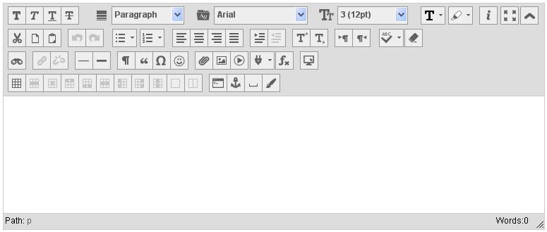 Blackboard 9.1 Text Editor