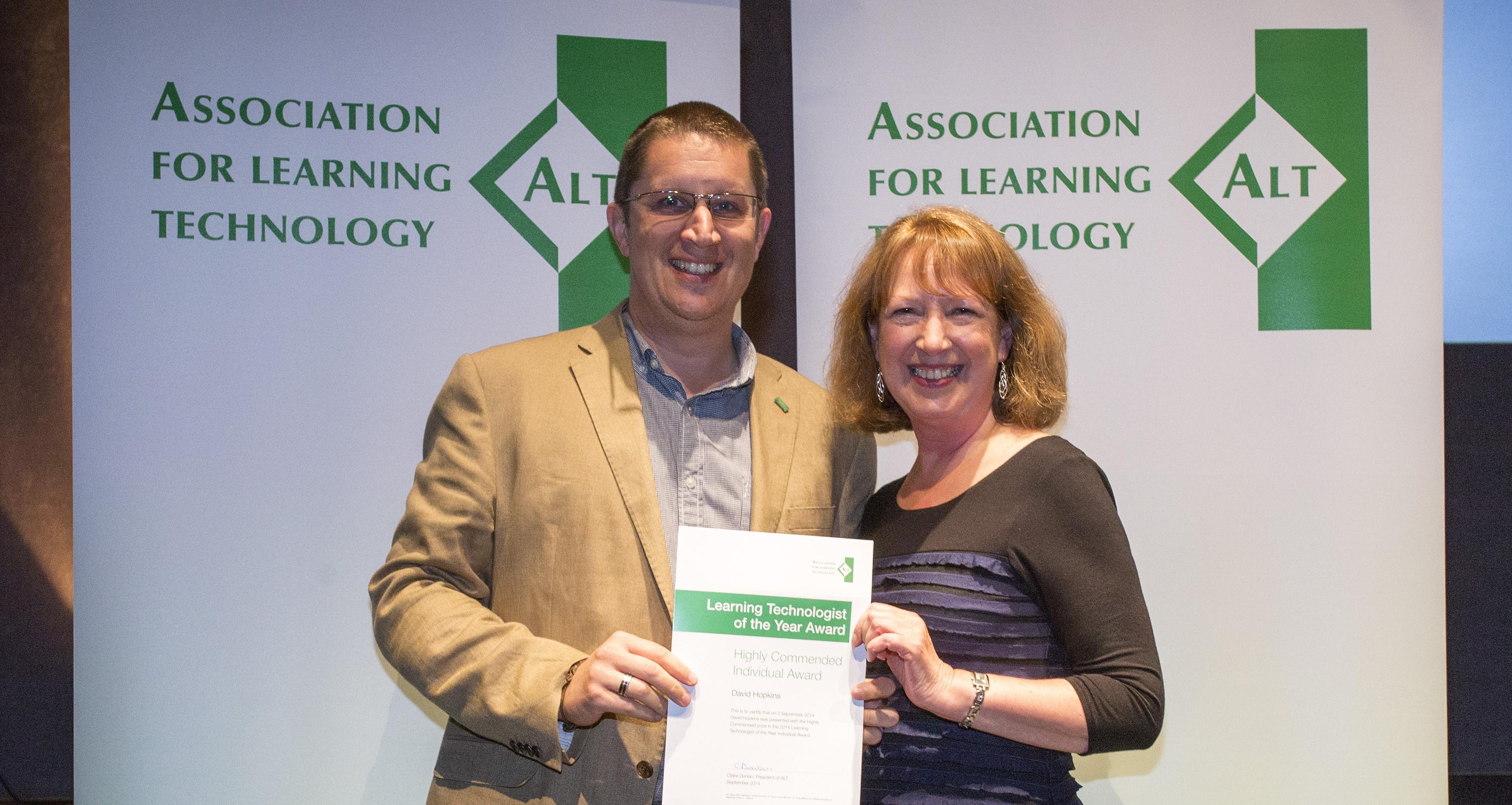 David Hopkins, LT of the Year Award, 2014