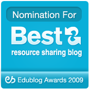 EduBlogs Best Resource Sharing Blog 2009