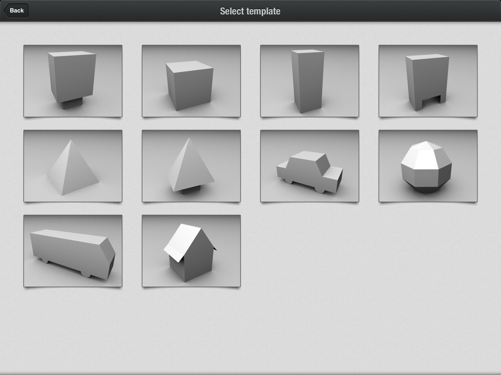 Foldify App - Templates