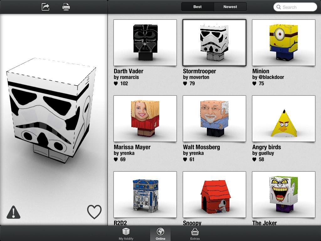 Foldify App - Online Designs / Stormtrooper