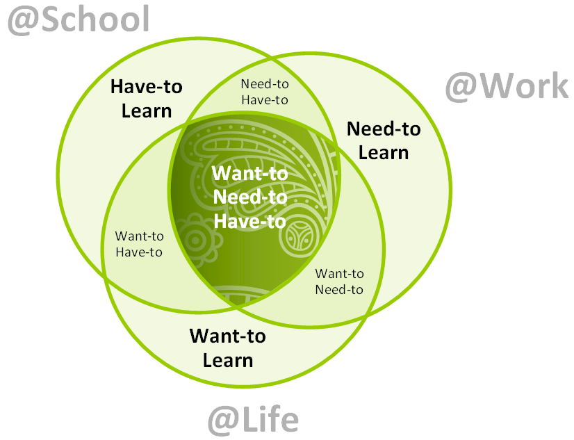 Venn Diagram on Learning Attitudes