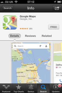 Google Maps App - App Store