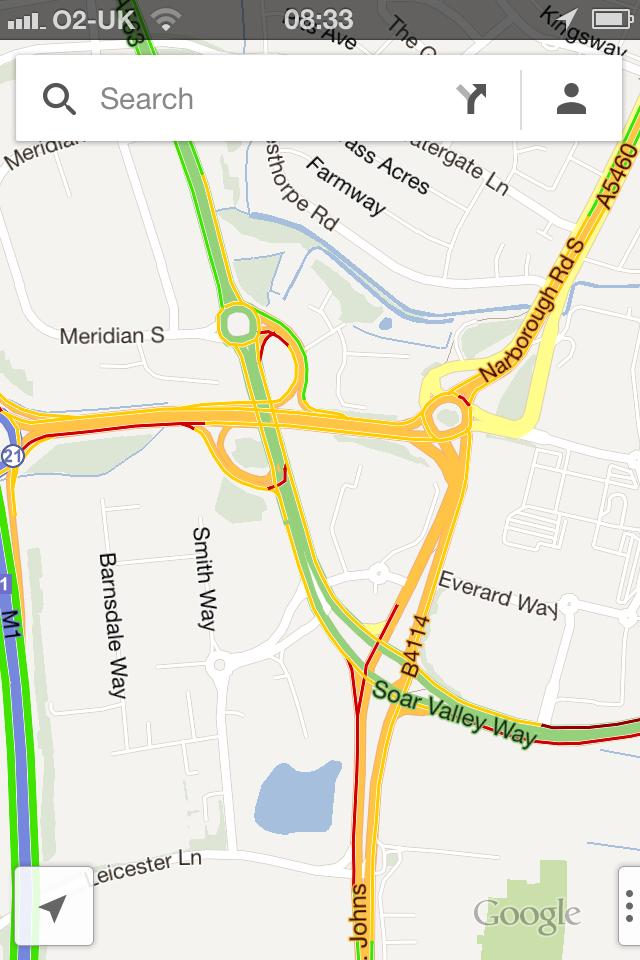 Google Maps App - Traffic