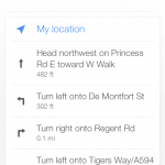 Google Maps App - Turn-by-turn directions