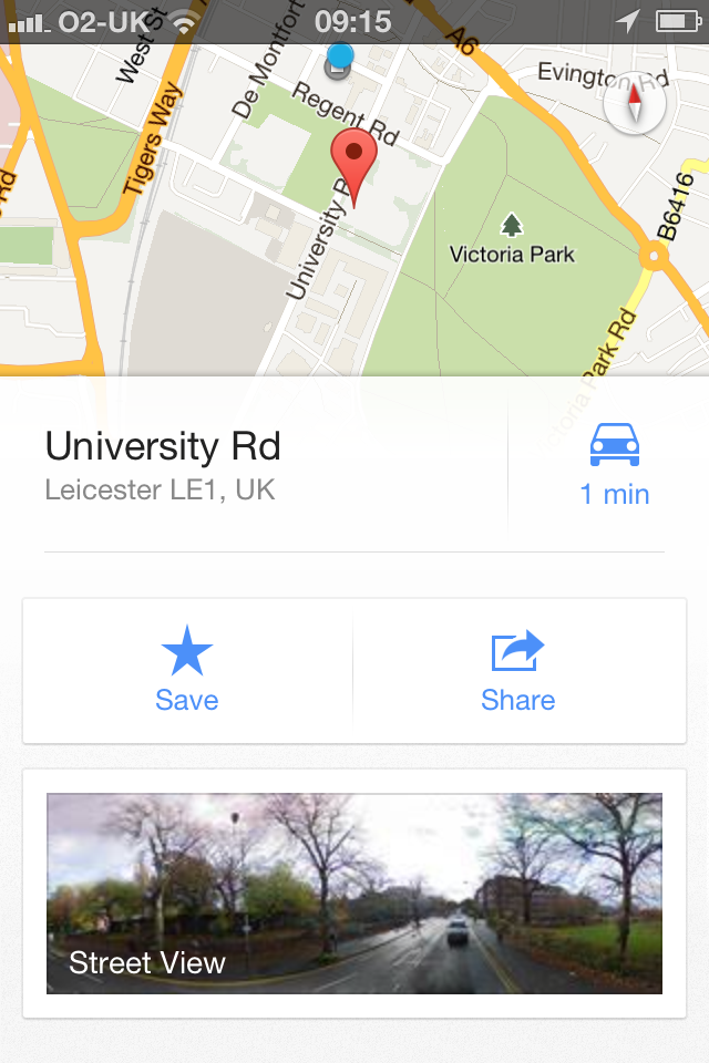 Google Maps App - Location Details