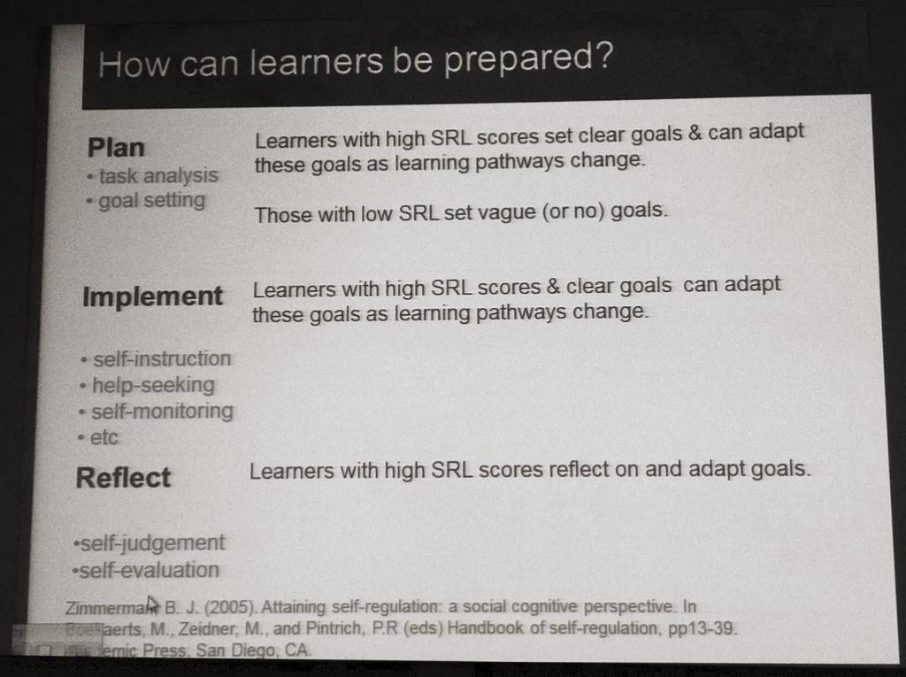 How can learners be prepared?