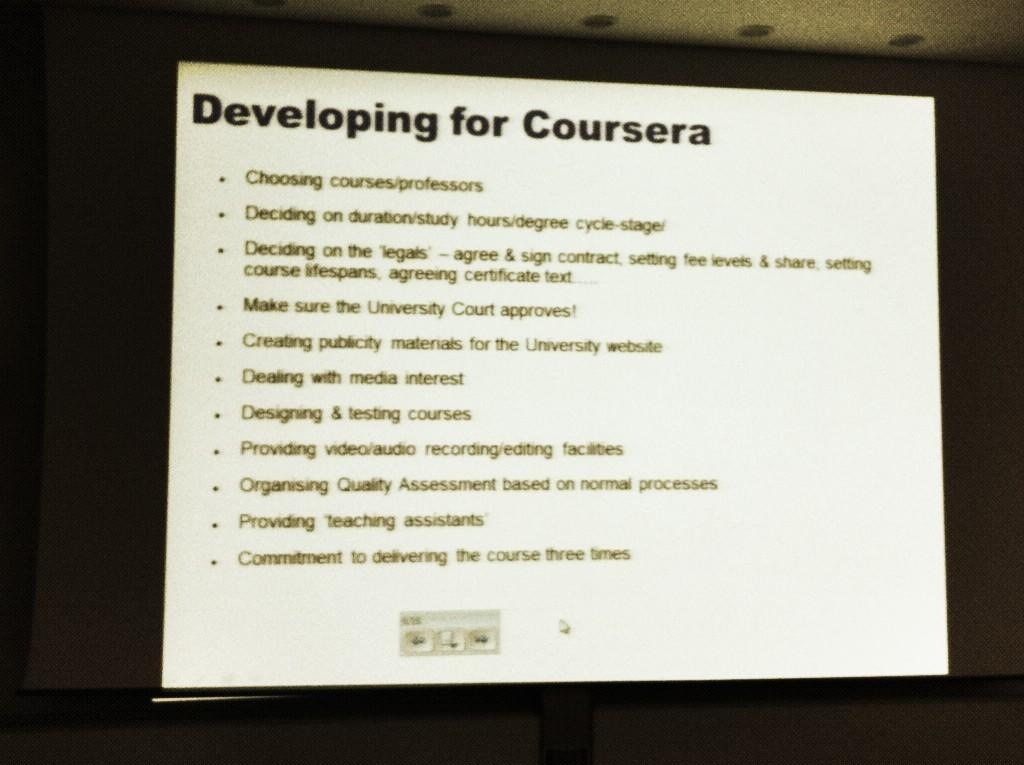 Developing for Coursera