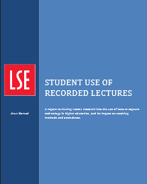Student use of recorded lectures: a report reviewing recent research into the use of lecture capture technology in higher education, and its impact on teaching methods and attendance