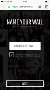 Photowall Chromecast