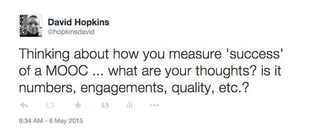 How do you measure a MOOC success - tweet