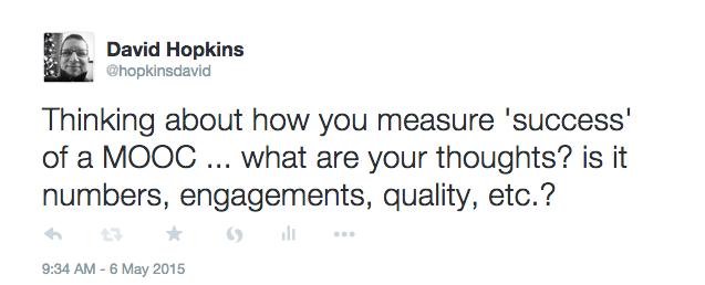 How do you measure a MOOC success - tweet