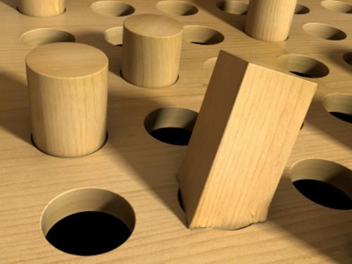 Square peg, round hole #bliamge