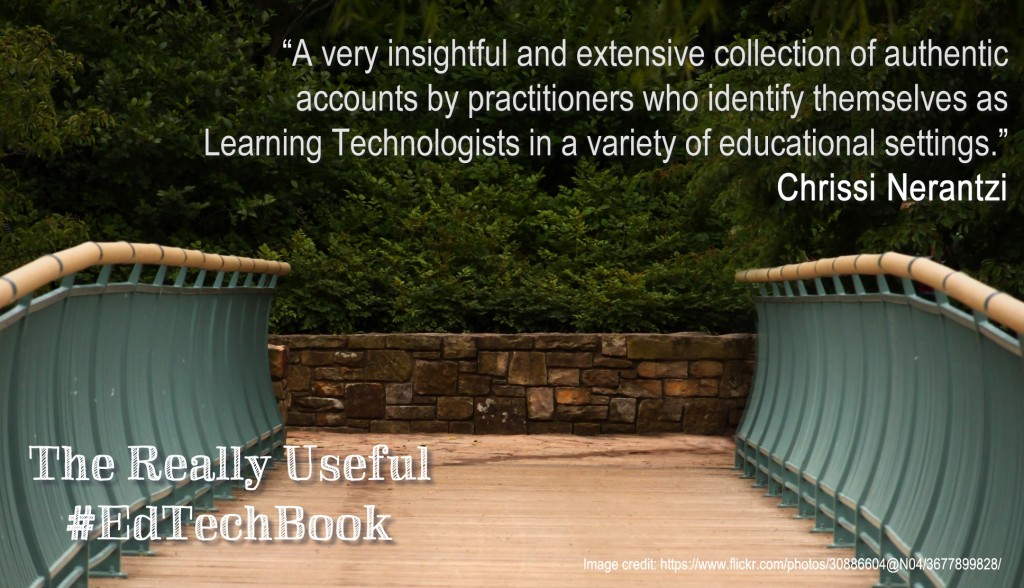 """A very insightful and extensive collection of authentic accounts by practitioners who identify themselves as Learning Technologists in a variety of educational settings."" Chrissi Nerantzi"